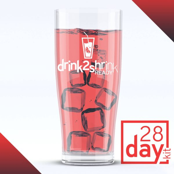 A glass of ice with a red drink